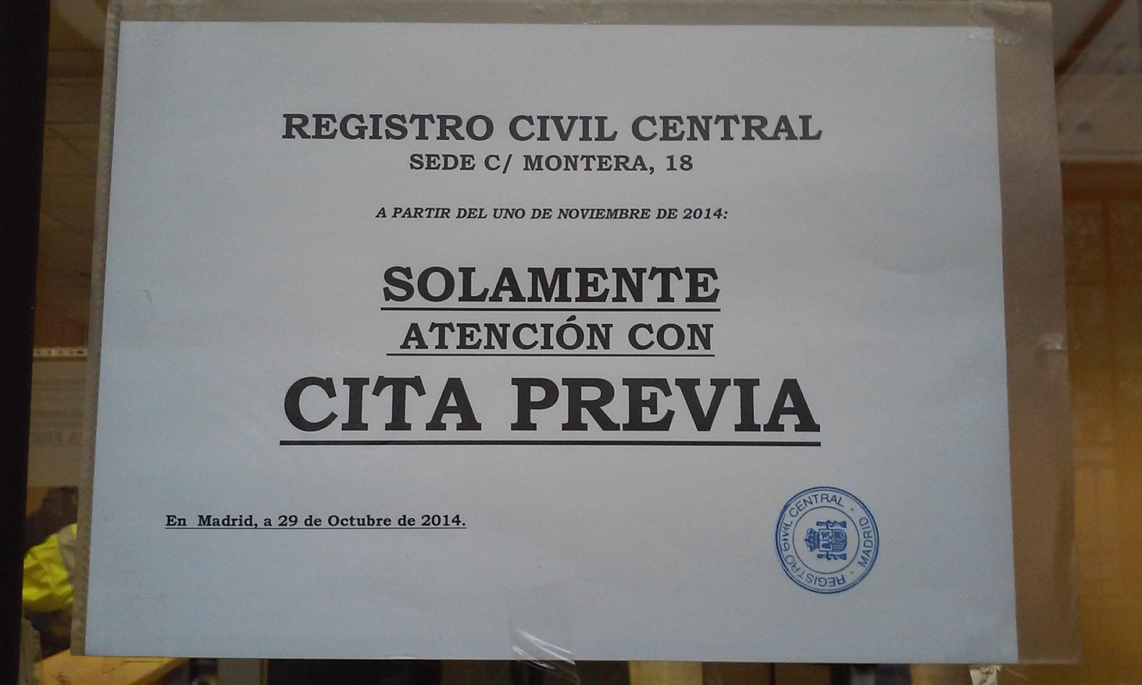 Registro civil central blog extranjer a asociaci n for Oficina de registro madrid