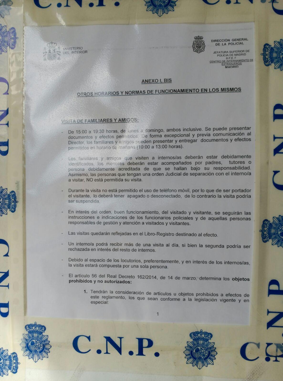 Centro de internamiento de extranjeros blog extranjer a for Oficina de extranjeria aluche