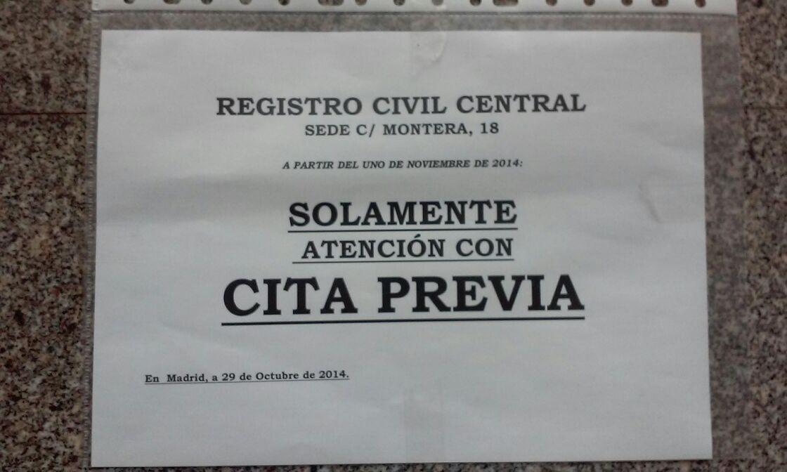 Cita previa registro civil central blog extranjer a for Oficina de registro madrid