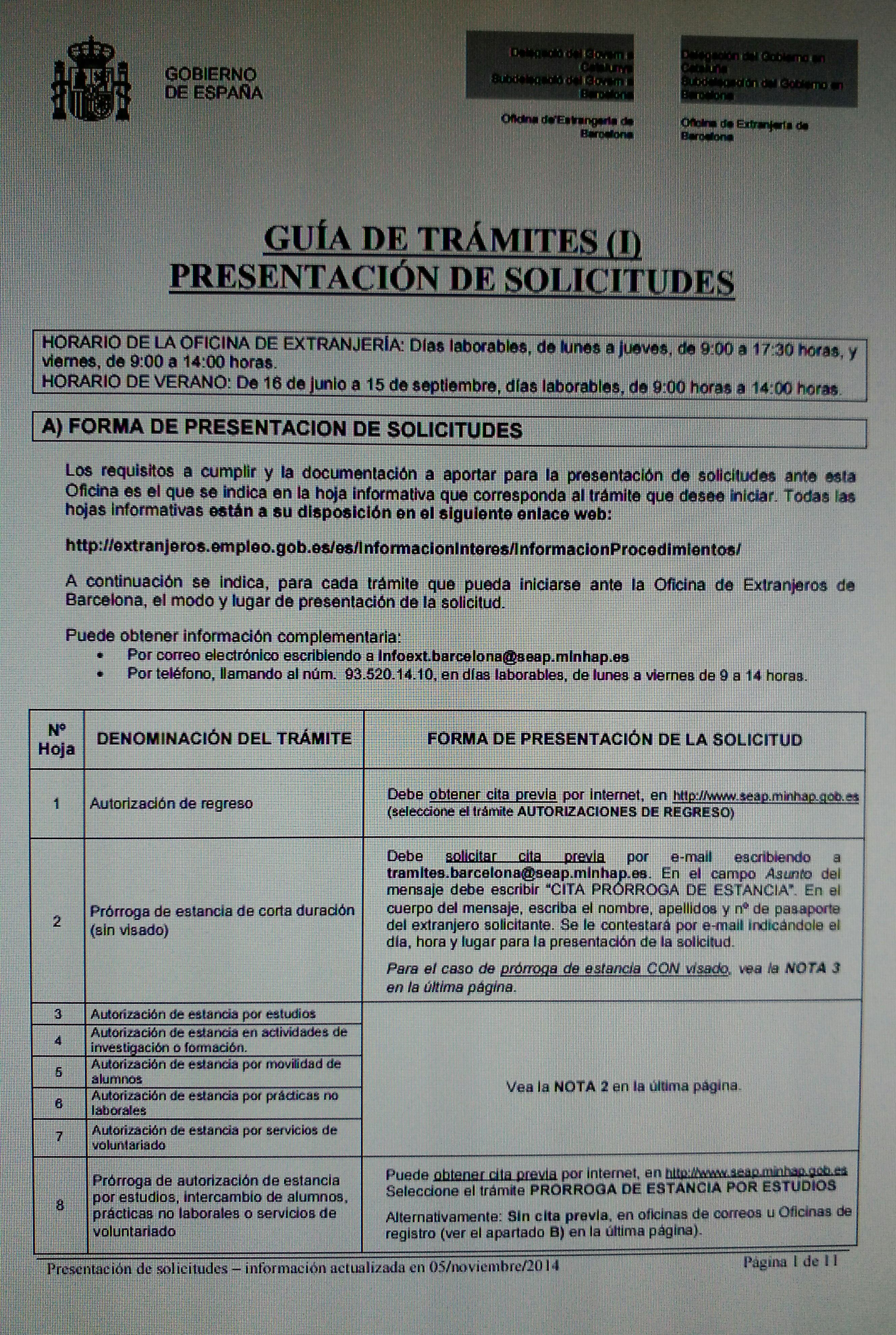Gu a de tr mites extranjer a barcelona blog extranjer a for Oficina extranjeria madrid