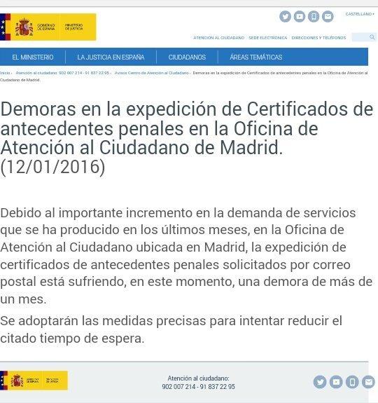Aviso ministerio de justicia blog extranjer a asociaci n - Oficina de atencion al ciudadano madrid ...
