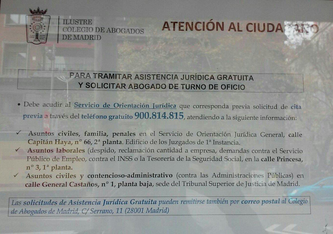 Asistencia jur dica gratuita blog extranjer a asociaci n for Oficinas inss madrid