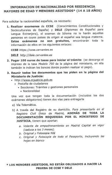 Nacionalidad por residencia blog extranjer a asociaci n progesti n - Oficina de empadronamiento madrid ...