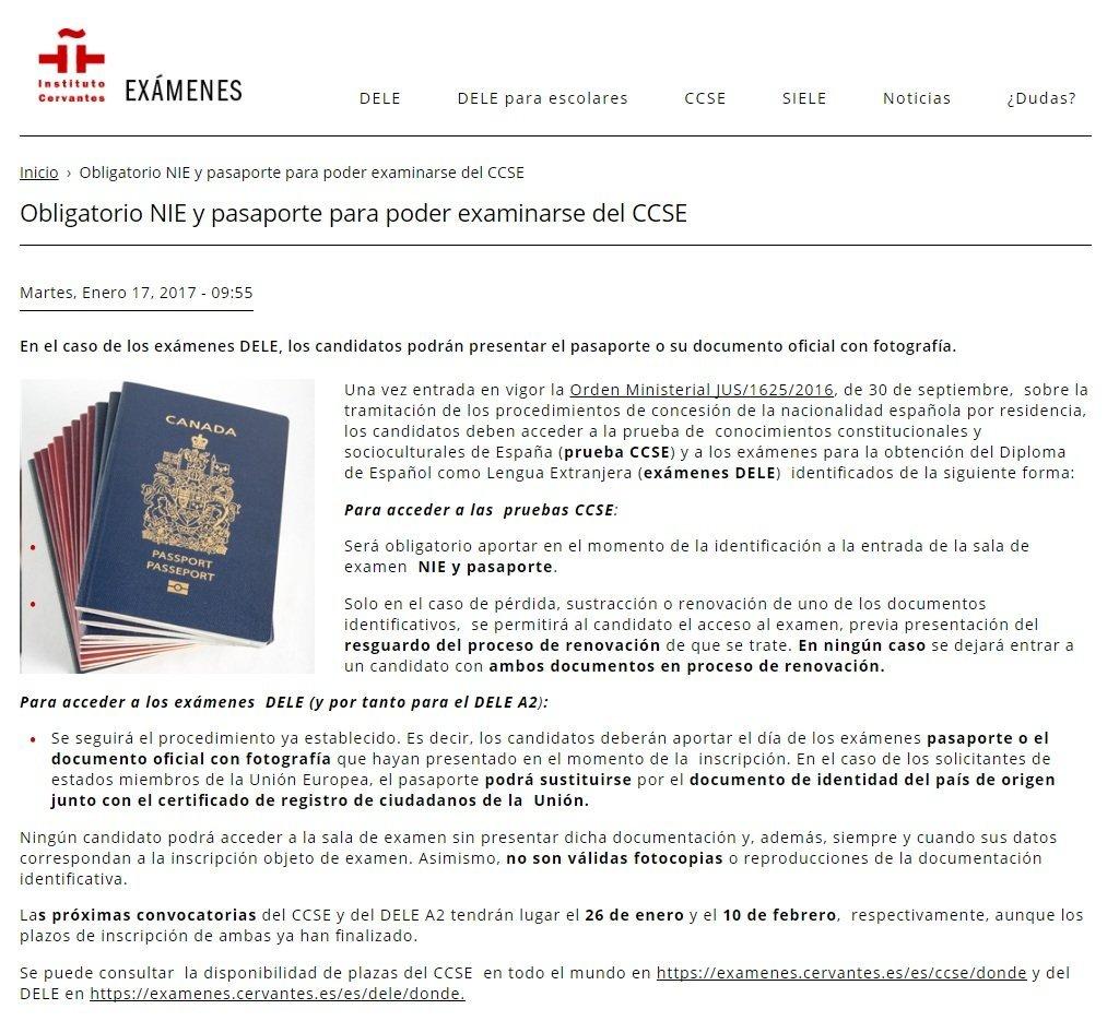 Documentaci n necesaria para examinarse pruebas instituto cervantes blog extranjer a - Oficina para la tramitacion del dni y pasaporte espanol pamplona ...