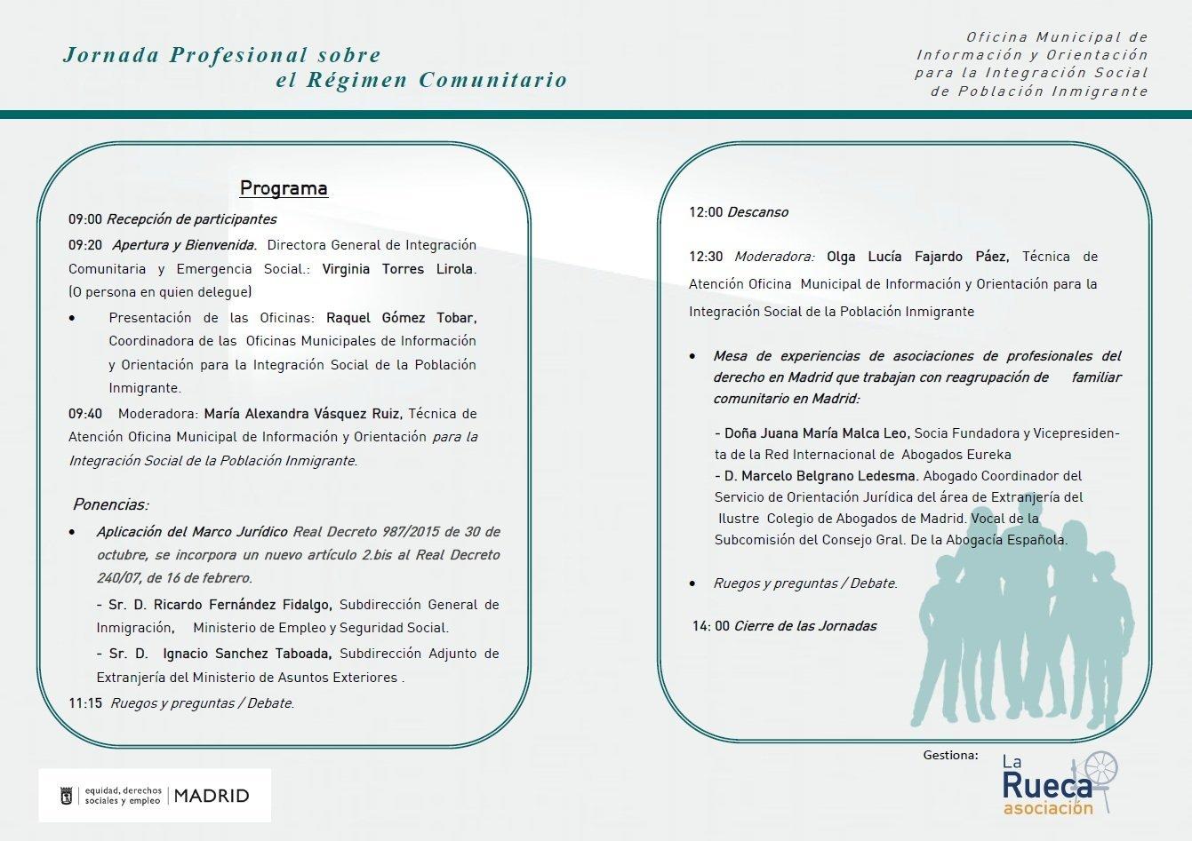 Jornada profesional sobre el r gimen comunitario blog for Oficina de extranjeria madrid aluche