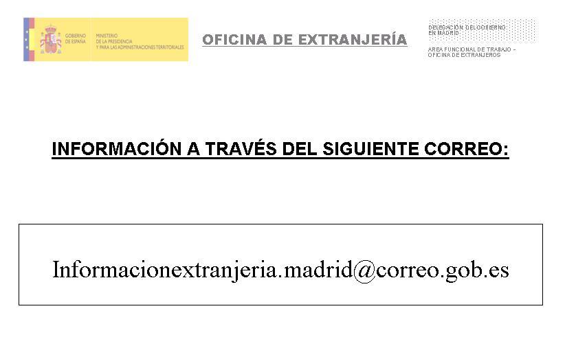 Correo de informaci n y duplicados madrid blog extranjer a asociaci n progesti n - Horario oficina correos madrid ...